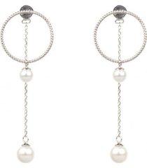 kolczyki silver hoop drop