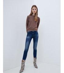 motivi jeans skinny push up modello gisele donna blu