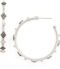 women's armenta new world crivelli diamond hoop earrings