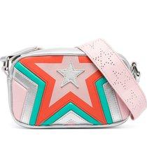 stella mccartney kids silver-tone faux leather shoulder bag