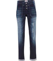 jeans elasticizzati boyfriend (blu) - john baner jeanswear