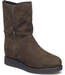 churri_ks_rf shoes boots ankle boots ankle boots flat heel brun unisa