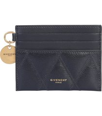 givenchy logo quilted card holder