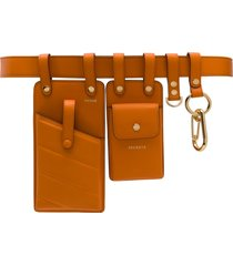 fendi multipurpose utility belt - orange
