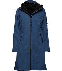 long raincoat parka blauw ilse jacobsen