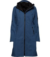 long raincoat parka lange jas jas blauw ilse jacobsen