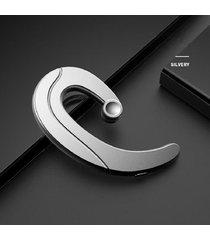 audifonos bluetooth auriculares ear-hook estéreo deportivo - plata