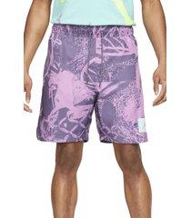 men's jordan flight poolside shorts, size xx-large - purple