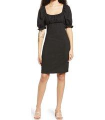 women's vero moda nina puff sleeve dress, size x-large - black