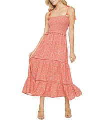 women's lost + wander everyday adventures tie shoulder maxi dress, size large - red