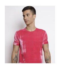 camiseta santo luxo man veludo rosa