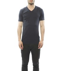 claesens men t-shirt v-hals blue (2 pack)