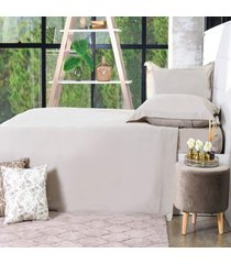 jogo de cama 200 fios solteiro 100% algodão penteado extra macio glamour - bene casa