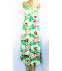 vestido wow! verde/multicolor