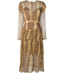 ninety six fluted dress