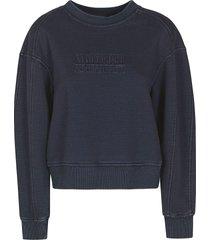alberta ferretti chest logo embroidered sweatshirt