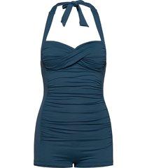 boyleg maillot badpak badkleding blauw seafolly