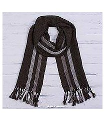100% alpaca scarf, 'mahogany glamour' (peru)