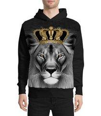 moletom stompy gangster lion masculino