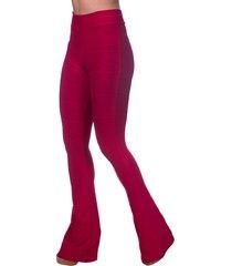 calça cintura alta premium flare bandagem vermelho