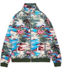 lrg men's hiloha tropical pattern track jacket