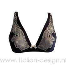 ambra lingerie bh's titanium bralette bh blauw 0433