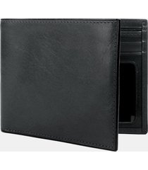 men's bosca leather bifold wallet - black