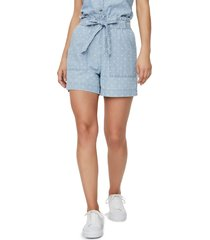 women's vero moda chambray organic cotton pocket shorts