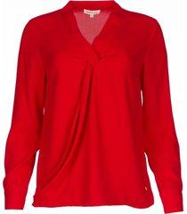 overslag blouse tica  rood