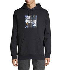 graphic logo stretch-cotton hoodie