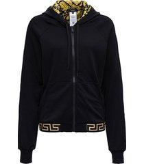 versace hoodie in technical jersey