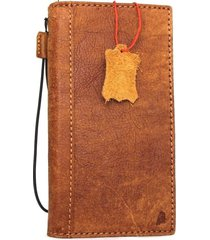 genuine leather case for oppo r11 plus book card wallet cover vintage brown slim