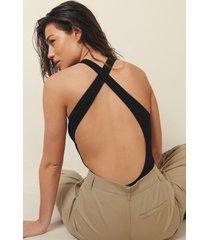 josefine hj x na-kd body med korsad rygg - black