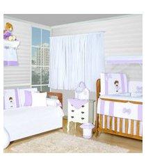 quarto completo padroeira baby bela flor rosa