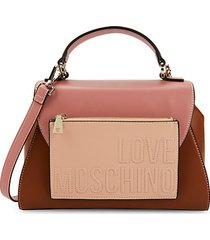 colorblock faux leather crossbody bag