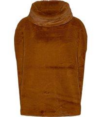 bavally fur poncho - poncho regnkläder brun b.young