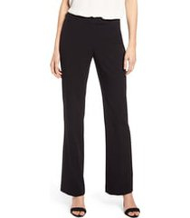 women's anne klein stretch flare leg pants, size 14 - black