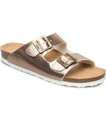 helsi shoes summer shoes flat sandals guld mjúka