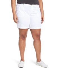plus size women's caslon utility shorts, size 20 - white