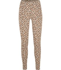 leggings in cotone leopardati con cinta comfort (nero) - bpc bonprix collection