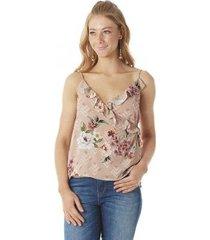 blusa serinah transpassada floral feminina
