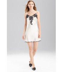 lolita v-neck chemise pajamas, women's, white, 100% silk, size xl, josie natori