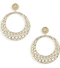 women's gorjana tulum drop hoop earrings