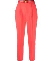 elisabetta franchi belted tailored trousers