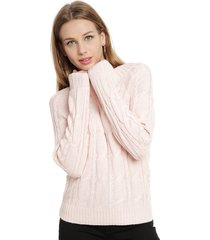 sweater io liso rosa - calce regular