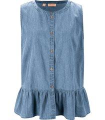 camicetta di jeans senza maniche (blu) - john baner jeanswear