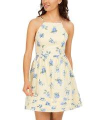 city studios juniors' floral-print a-line dress