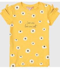 camiseta amarillo-blanco boboli