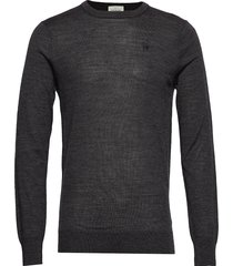 merino merino wool knit gebreide trui met ronde kraag zwart scotch & soda