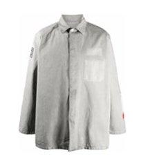 heron preston camiseta jeans - cinza